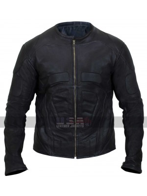 Batman Begins Bruce Wayne Batsuit Leather Jacket